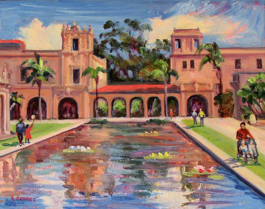 Day In Balboa Park San Diego Painting By Robert Gerdes