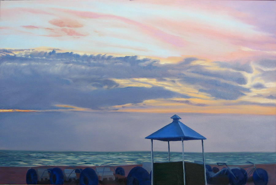 Sunset Painting - Day Is Done by Lea Novak