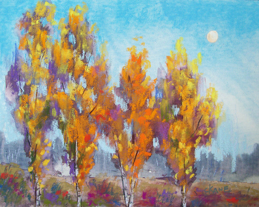 Moon Pastel - Day Lit Moon by Christine Camp