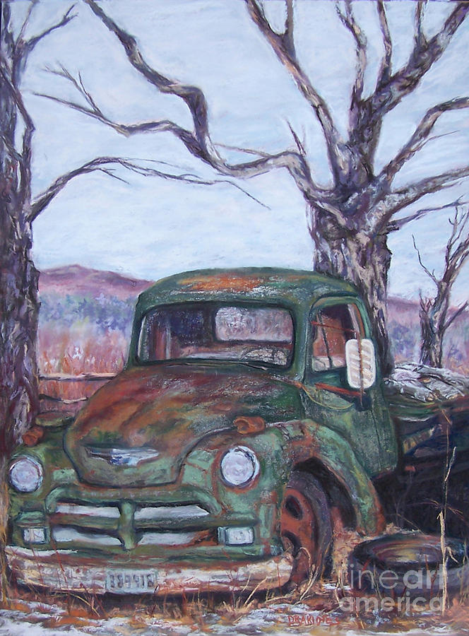 Vintage Truck Pastel - Day Of Rest - Old Friend Iv by Alicia Drakiotes