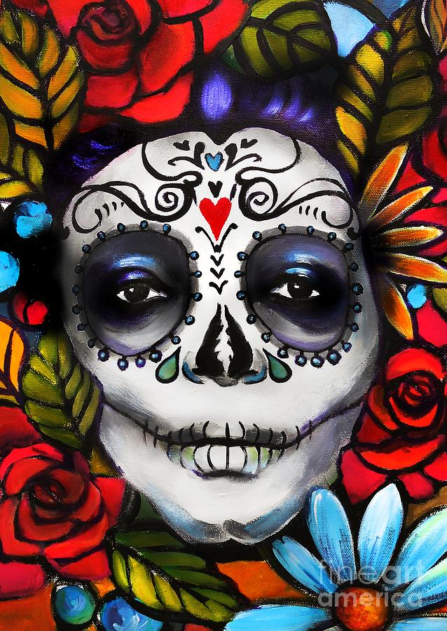 Day Of The Dead Painting - Day Of The Dead by E Bradshaw