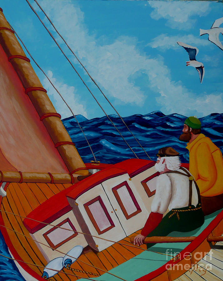 Sailing Painting - Day Sail by Anthony Dunphy