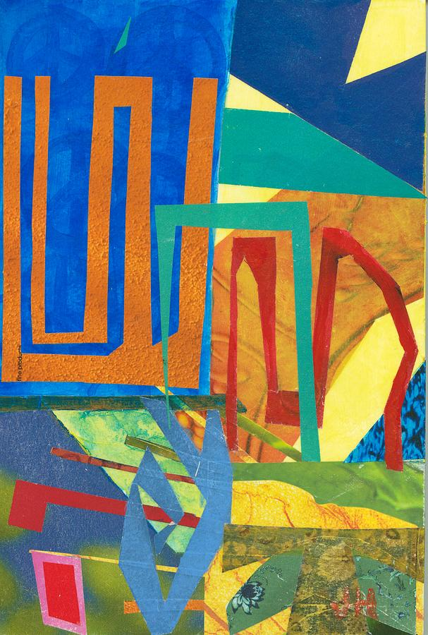 Abstract Paintings Mixed Media - Day Tripper by Jerry Hanks
