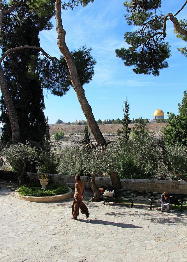 Jerusalem Photograph - Day Walk In Jerusalem by Munir Alawi