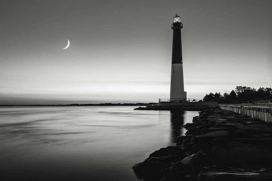 Daybreak At Barnegat, Black And White Photograph
