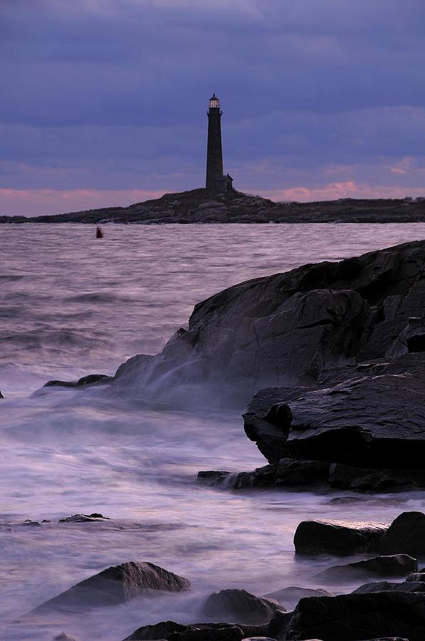 Lighthouse Photograph - Daybreak Near The North Tower by Liz Mackney