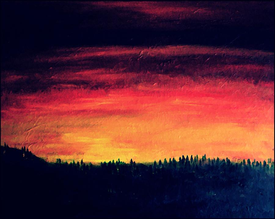 Sky Mixed Media - Daybreak Number Four by Scott Haley