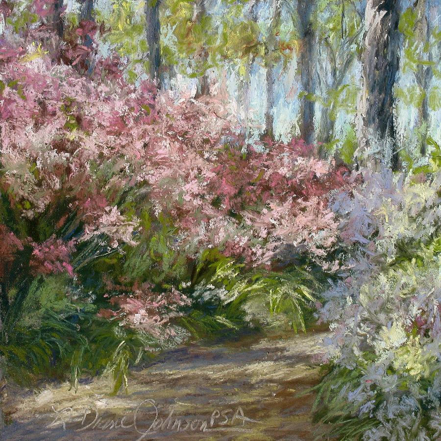 Azalea Garden Painting - Daydream by L Diane Johnson
