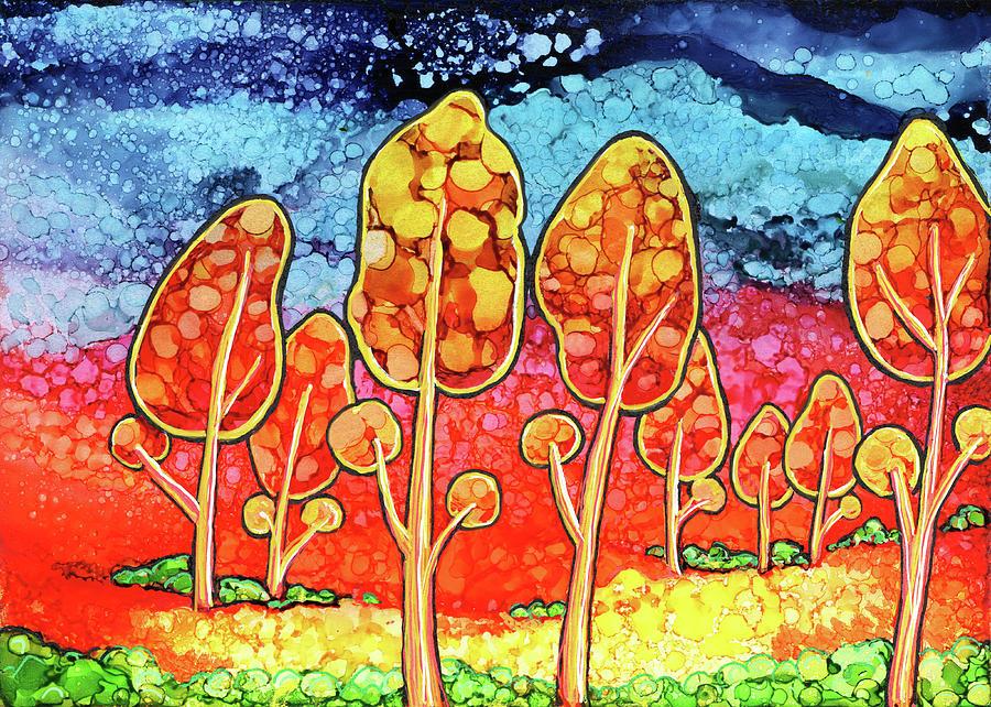 Tree Painting - Daydream Park by Jennifer Allison