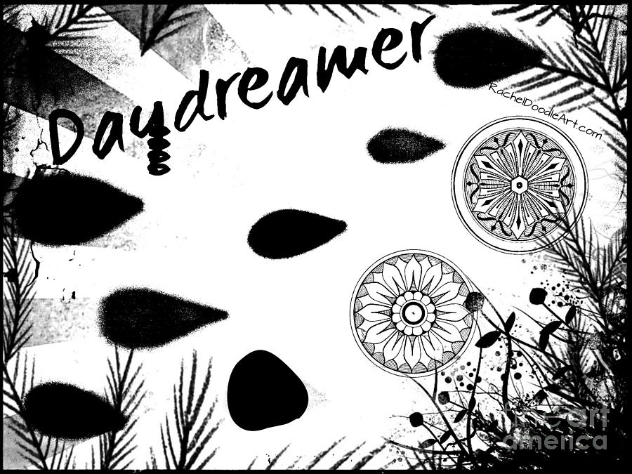 Doodle Drawing - Daydreamer by Rachel Maynard