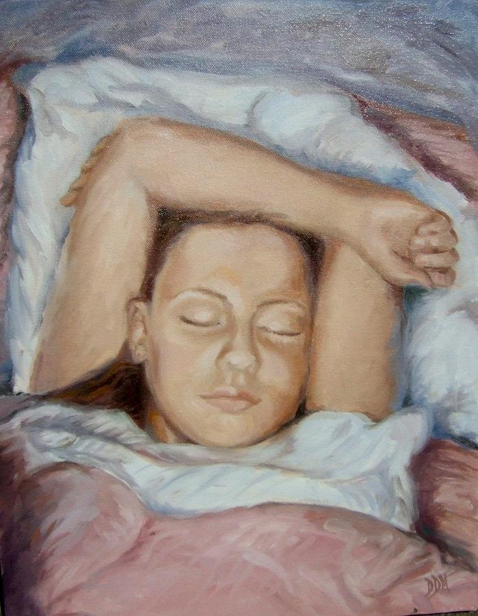 Portrait Painting - Daydreaming In Chenille by Darlene LeVasseur