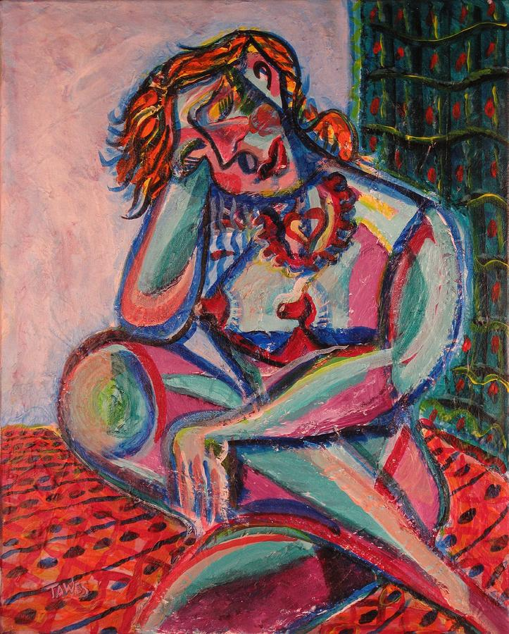 Daydreaming Painting - Daydreaming In Color by Dennis Tawes