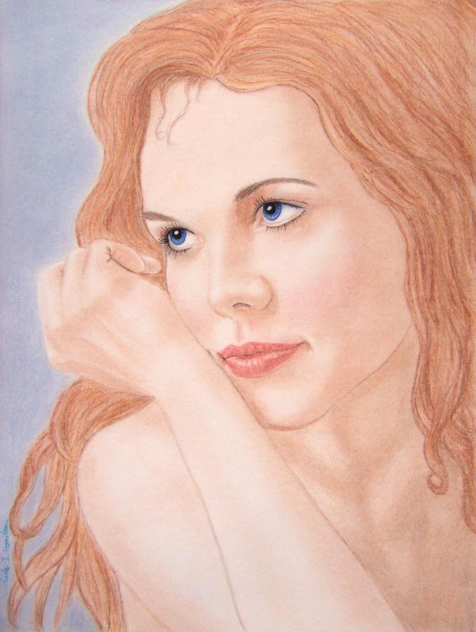 Woman Drawing - Daydreams by Nicole I Hamilton