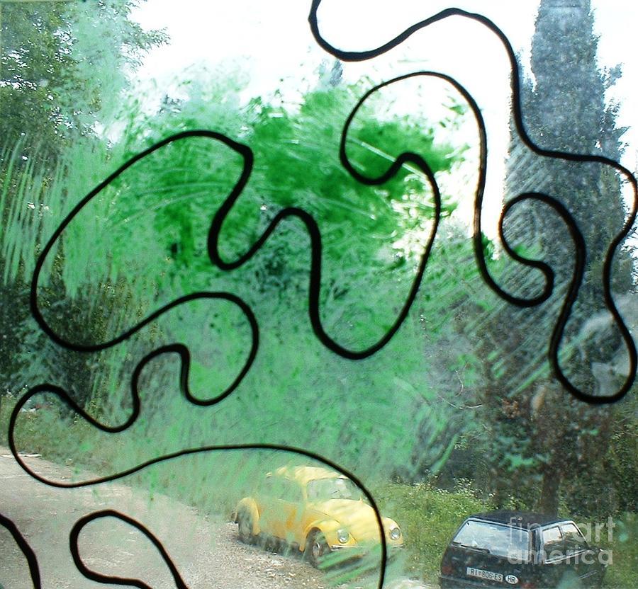 Daylight Glass Art - Daylight Ghost by Nyna Niny