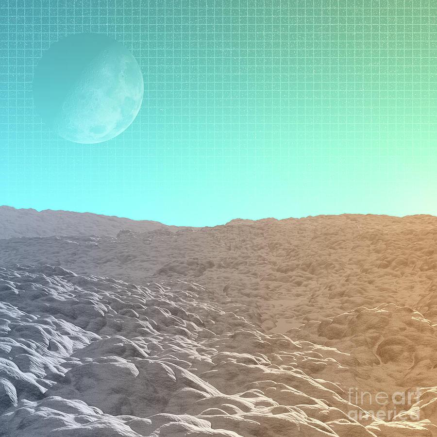 Moon Digital Art - Daylight In The Desert by Phil Perkins