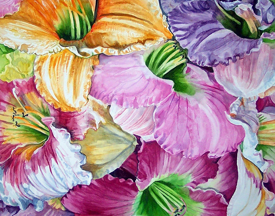Lillies Print - Daylillies by Bette Gray