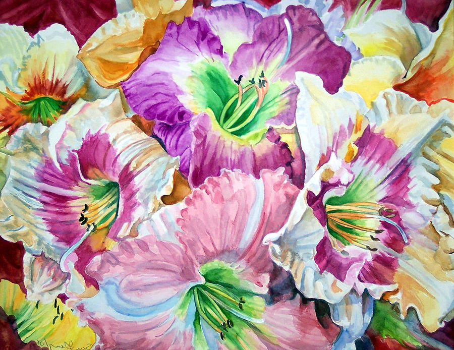 Flowers Print - Daylilliesll by Bette Gray