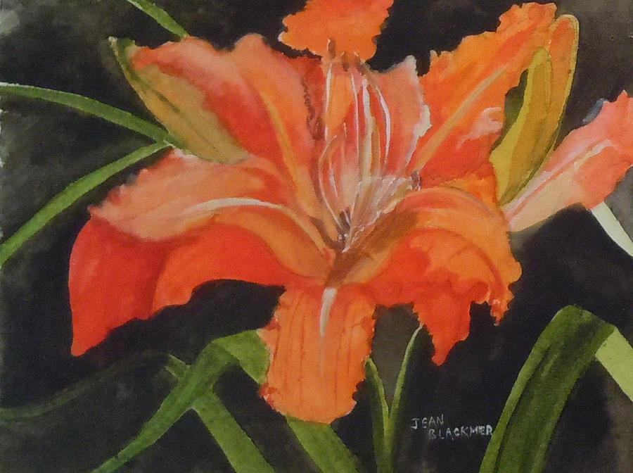 Orange Painting - Daylily Study IIi by Jean Blackmer