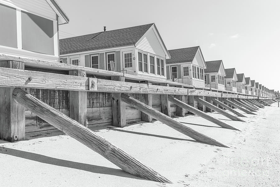 Cape Cod Photograph - Days Cottages Row from the Beach by Edward Fielding