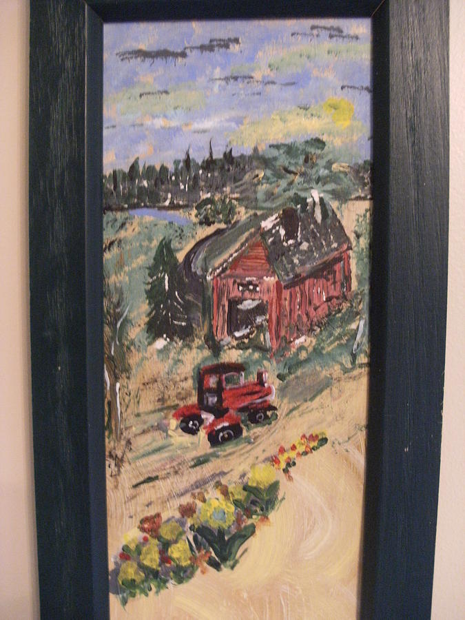Tractor Painting - Days Done On The Farm by Bob Smith