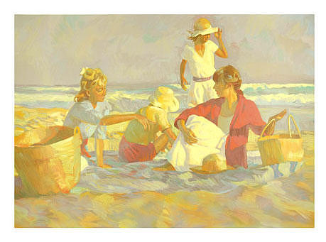 Beach Painting - Days End by  Don Hatfield