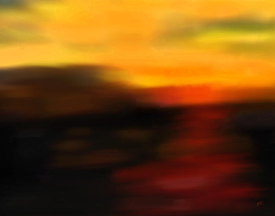 Digital Painting Painting - Days End by Gerlinde Keating - Galleria GK Keating Associates Inc