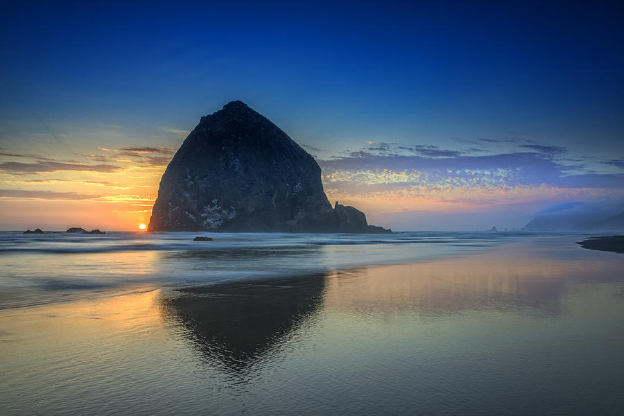 Oregon Photograph - Days End In Cannon Beach by Rick Berk