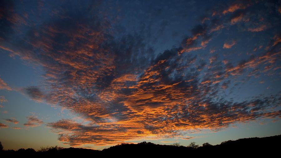 Sunset Pyrography - Days Glorious Ending by Karen Musick