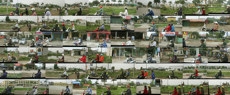 Vietnam Photograph - Daytime Scooters, Hanoi by Stephen Farley