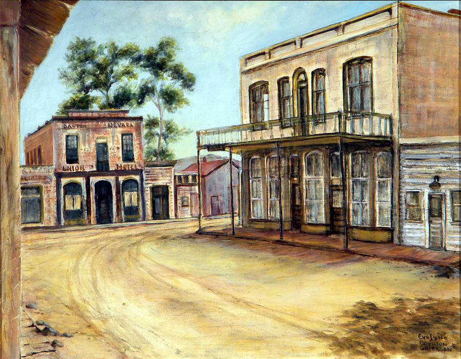 West Painting - Dayton Nevada by Evelyne Boynton Grierson