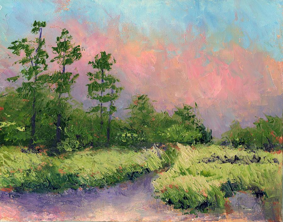 Florida Painting - Daytona Pines by Diane Martens