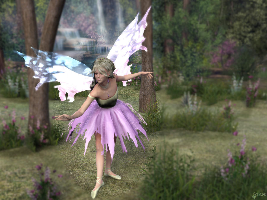 Fairy Digital Art - Dazylling Fairy by Christy Lube