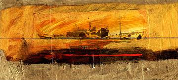 Digital Print Digital Art - Dazzle Ship by Peter Stephen Wise