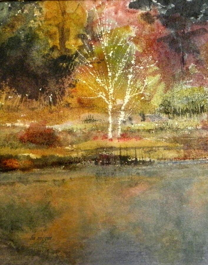 Dazzle Painting - Dazzle Tree by Lizbeth McGee