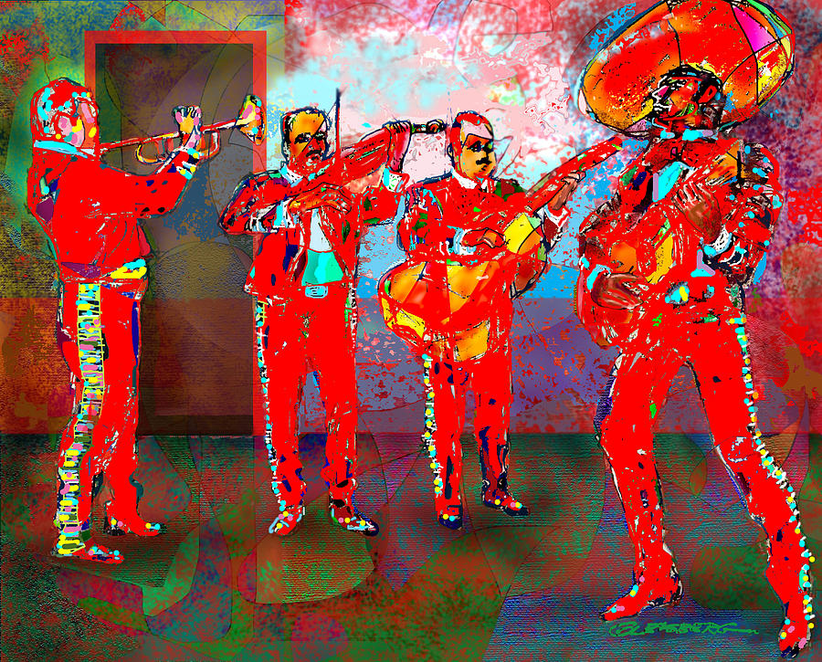 Mariachi Painting - De Colores by Dean Gleisberg