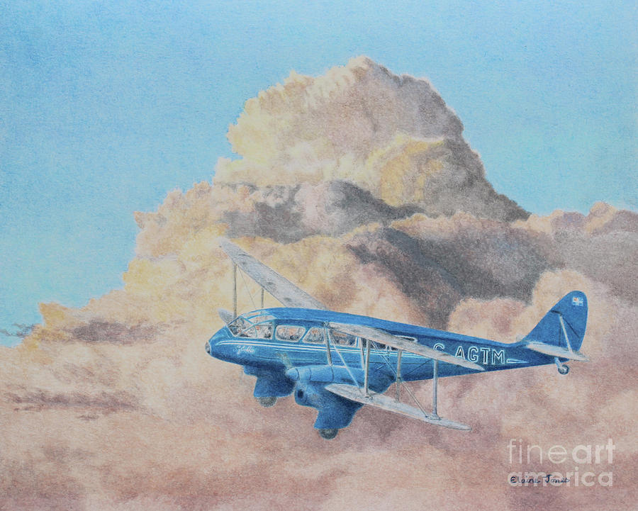 de Havilland Dragon Rapide by Elaine Jones