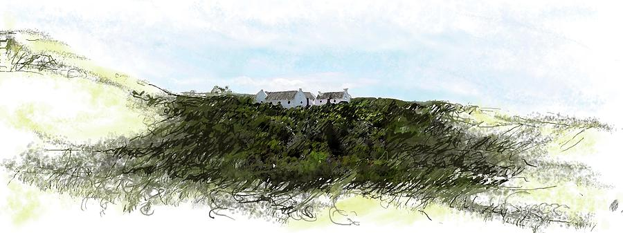 Historic Houses Painting - de Hoop nature reserve by Ronald Rosenberg