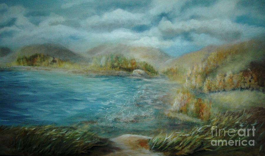 Water Painting - De Ja View by Vivian  Mosley