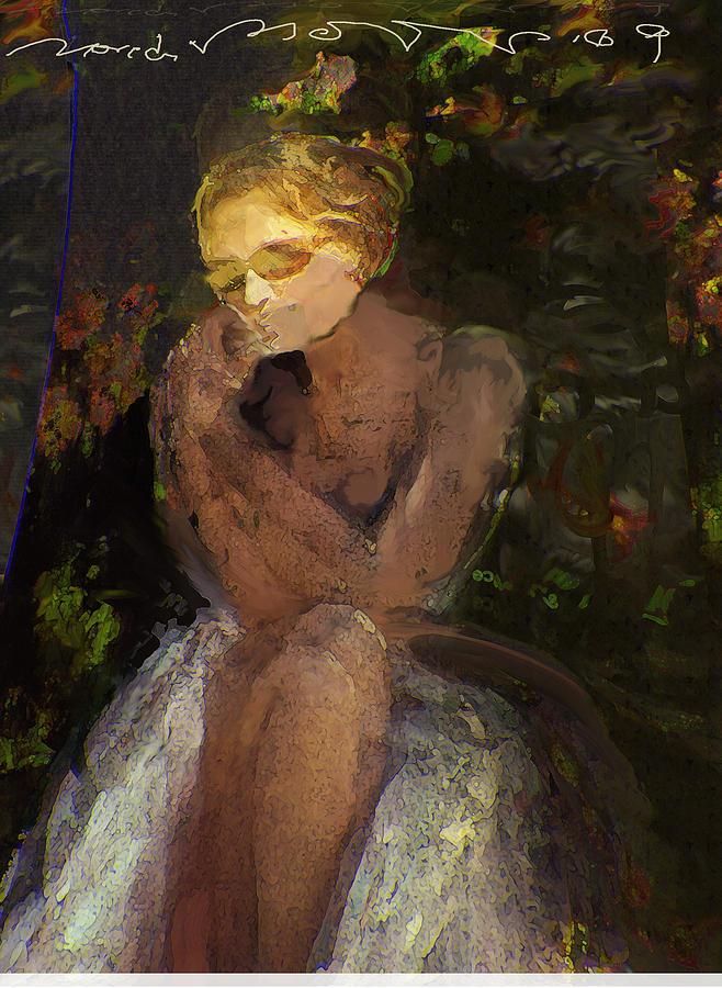 Portrait Painting - De Jardin 2 by Noredin Morgan