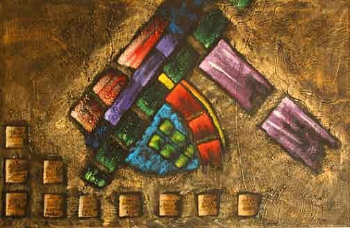 Artist Painting - De La Serie Abstractos by Aguilar Martinez