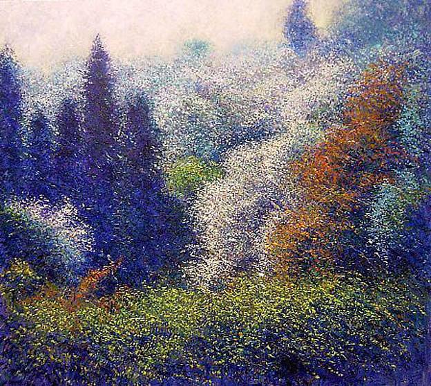 Landscape Painting - De Mi Visita A Corot by Andres Rueda
