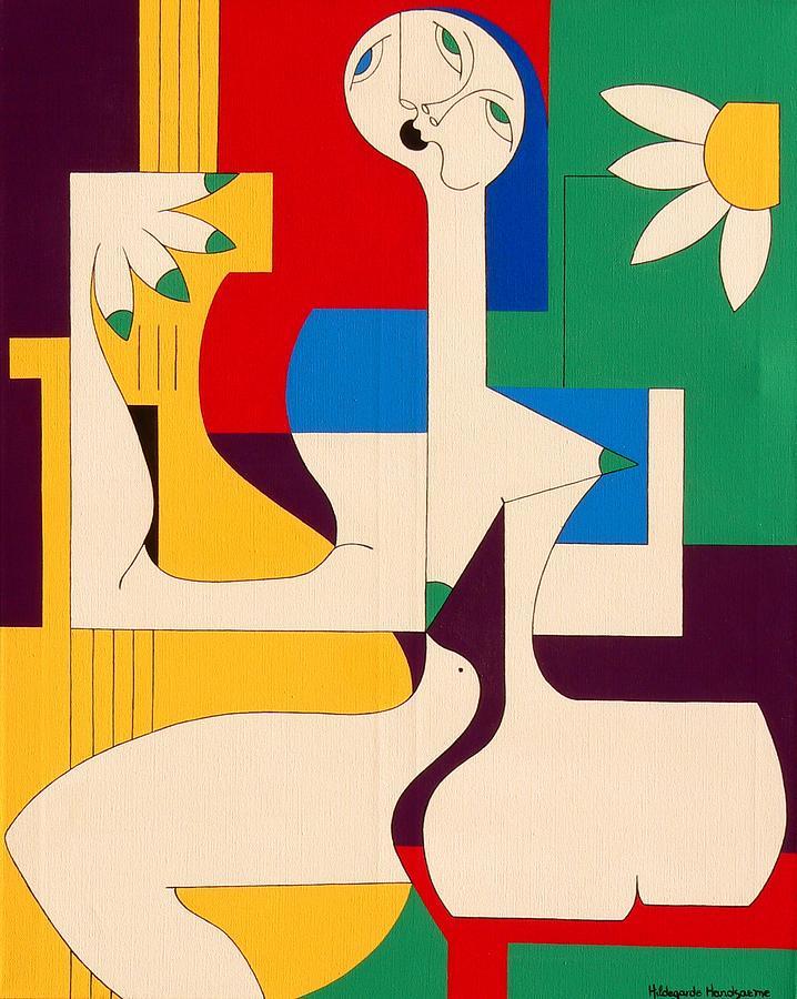 De Sopraan Painting by Hildegarde Handsaeme