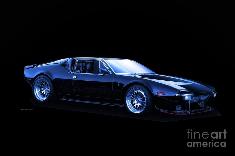 Sport Cars Photograph - De Tomaso Pantera in Blue by Dave Koontz