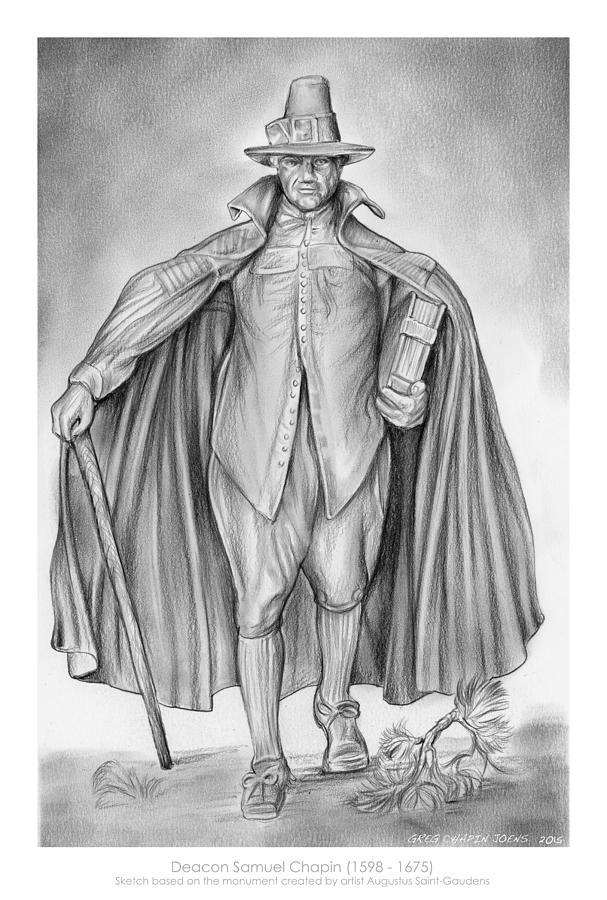 Deacon Samuel Chapin Drawing