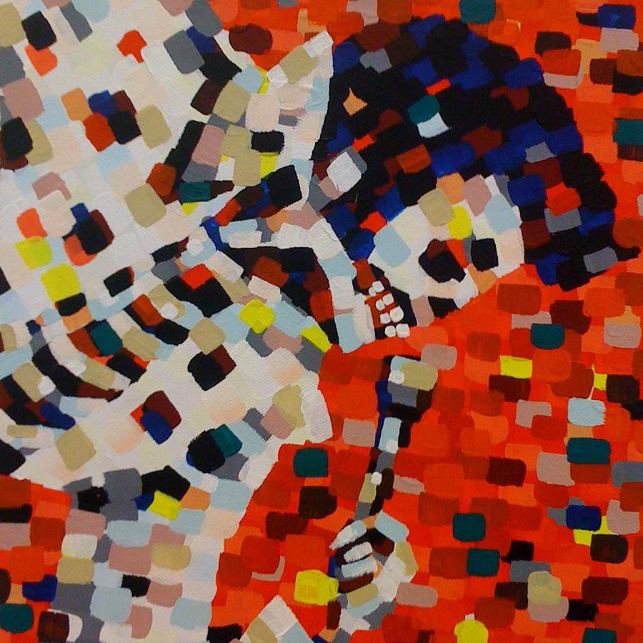 Elvis Presley Painting - Dead Elvis I by Denise Landis