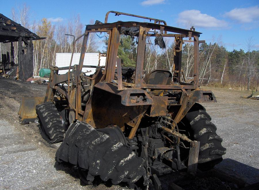 Dead Farm Tractor Photograph by Alan Redhorse