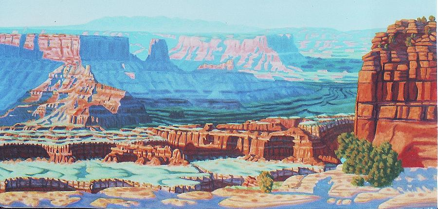 Oil Painting - Dead Horse Point #2 by Allen Kerns