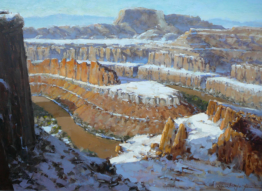 Utah Painting - Dead Horse Point by Frank LaLumia
