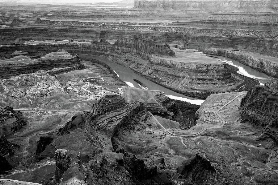 Dead Horse Point Park Monochrome - Utah Photograph