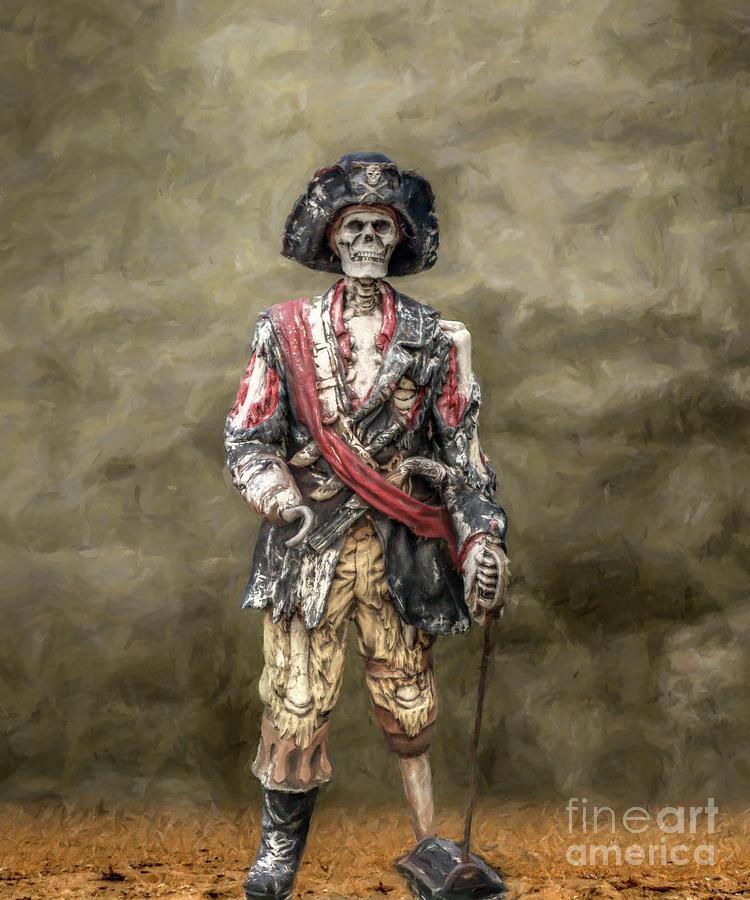 Pirate Digital Art - Dead Men Tell No Tales by Randy Steele